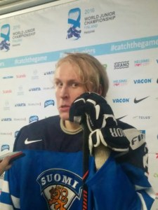 Patrik Laine postgame after Finland defeated Canada in the quarterfinals of the 2016 World Junior Championship
