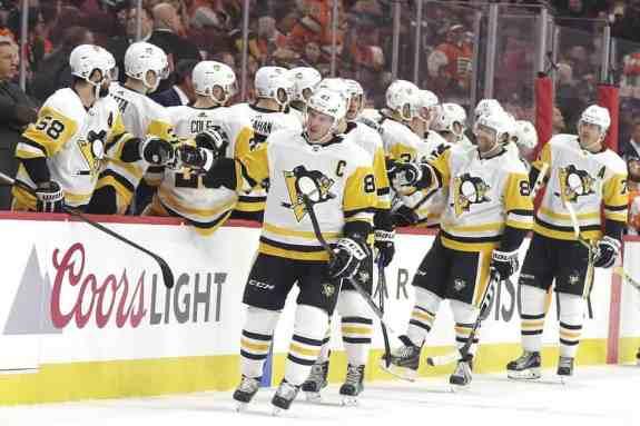 Penguins bench