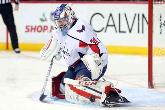 Washington Capitals goalie Philipp Grubauer
