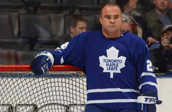 Tie Domi #28 of Toronto Maple Leafs