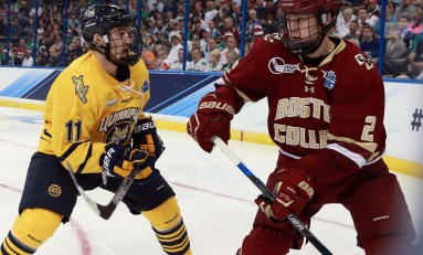 NCAA Hockey Rankings: Quinnipiac Up, BC Way Down