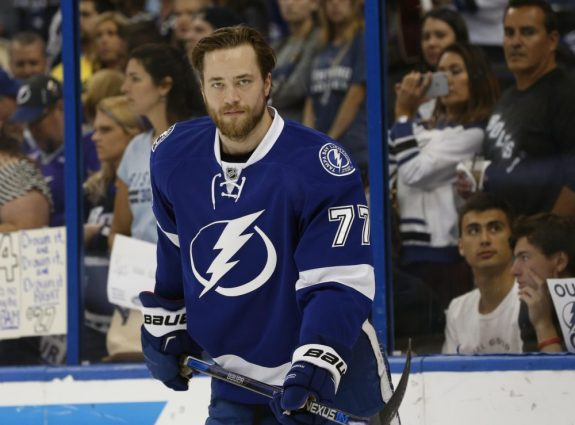 Victor Hedman has quickly become a franchise defenseman, living up to lofty pre-draft projections. (Kim Klement-USA TODAY Sports)