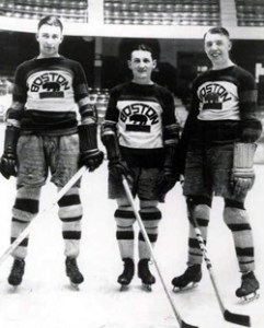 The Dynamite Line- Dit Clapper, Dutch Gainor and Cooney Weiland