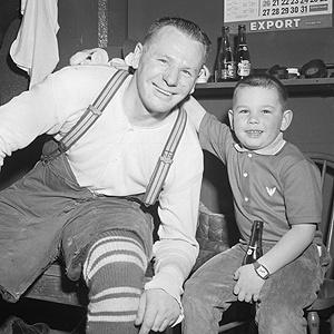 Johnny Bower and son John Jr.