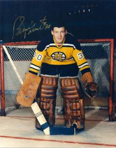 Boston rookie goalie Bernie Parent