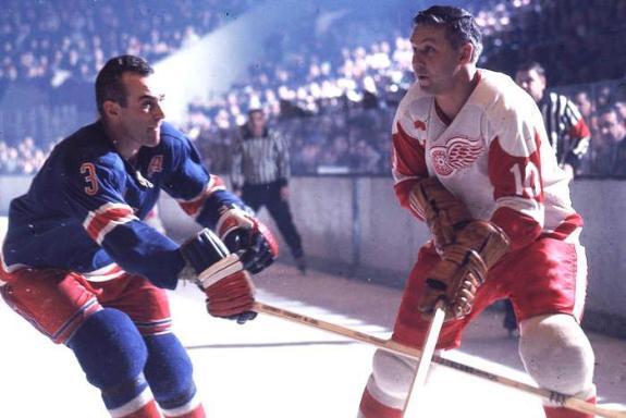 Alex Delvecchio versus the Rangers