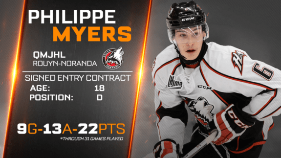 Philadelphia Flyers Philippe Myers