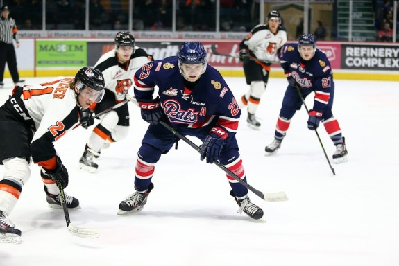 Sam Steel of the Regina Pats