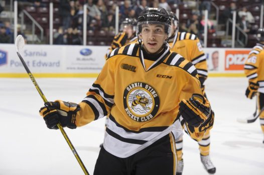 Jordan Kyrou of the Sarnia Sting