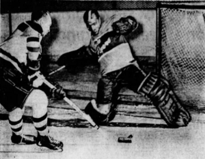 Marv Edwards makes a great save on his night.