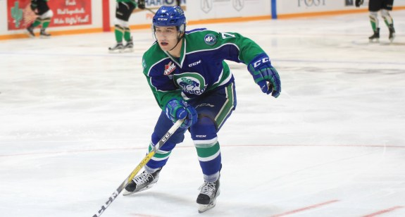 Tyler Steenbergen of the Swift Current Broncos