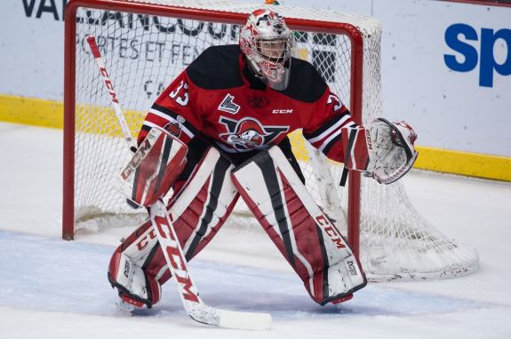 Olivier Rodrigue of the Drummondville Voltigeurs
