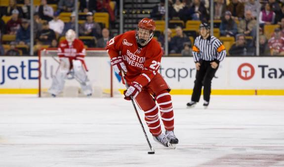 Boston University forward Brady Tkachuk