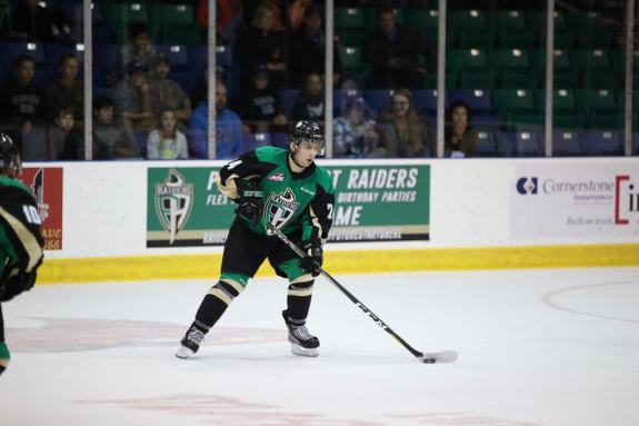 Cole Fonstad of the Prince Albert Raiders