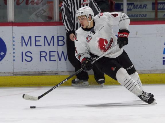 Jett Woo of the Moose Jaw Warriors