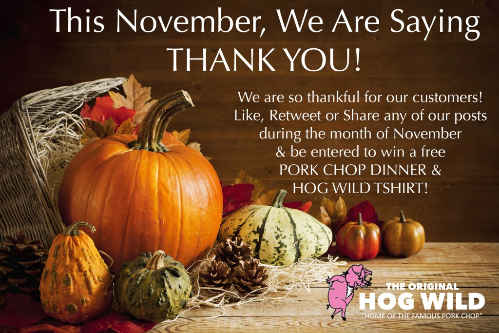 The Hog Wild November Thankful Thanksgiving