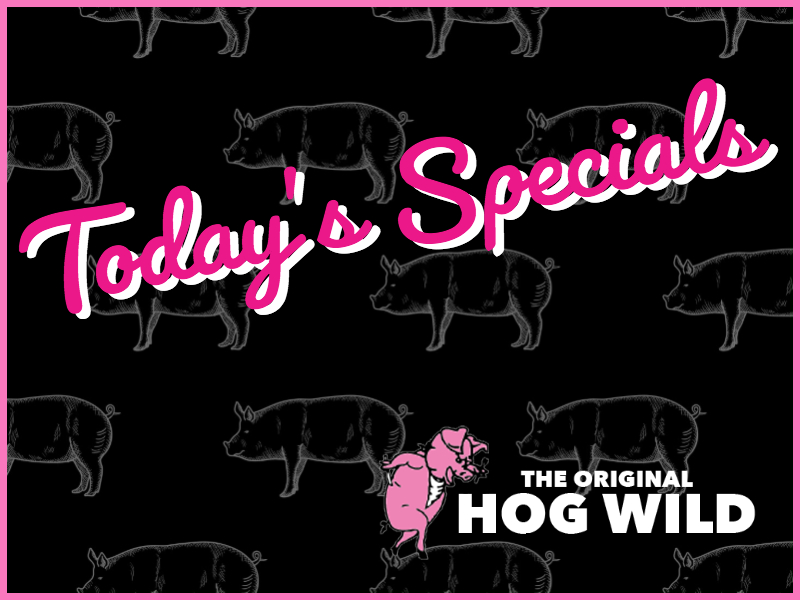 Friday, August 3, 2018 Specials