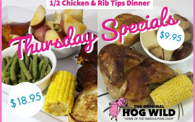 Thursday, August 9, 2018 Specials