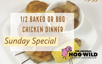 Sunday, September 2, 2018 Daily Specials