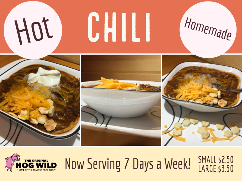 Now Serving 7 Days a Week… Chili!
