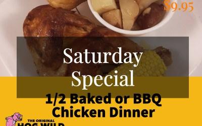 Saturday, October 6, 2018 Daily Specials