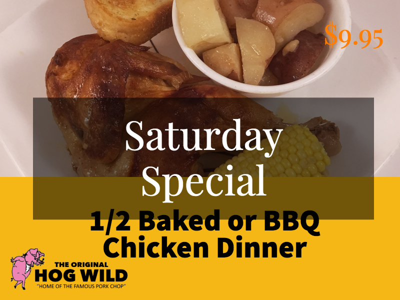 Saturday, October 6, 2018 Daily Specials