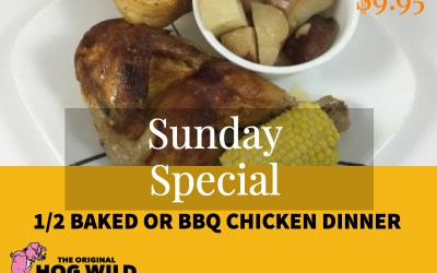 Sunday, October 7, 2018 Daily Specials