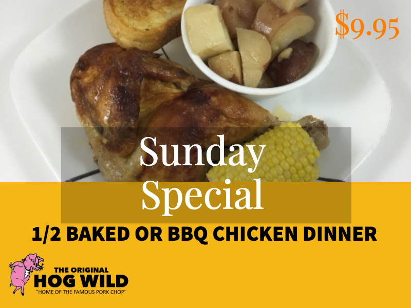 Sunday, October 7, 2018 Daily Specials