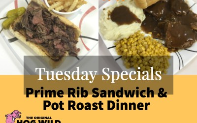 Tuesday, October 2, 2018 Daily Specials