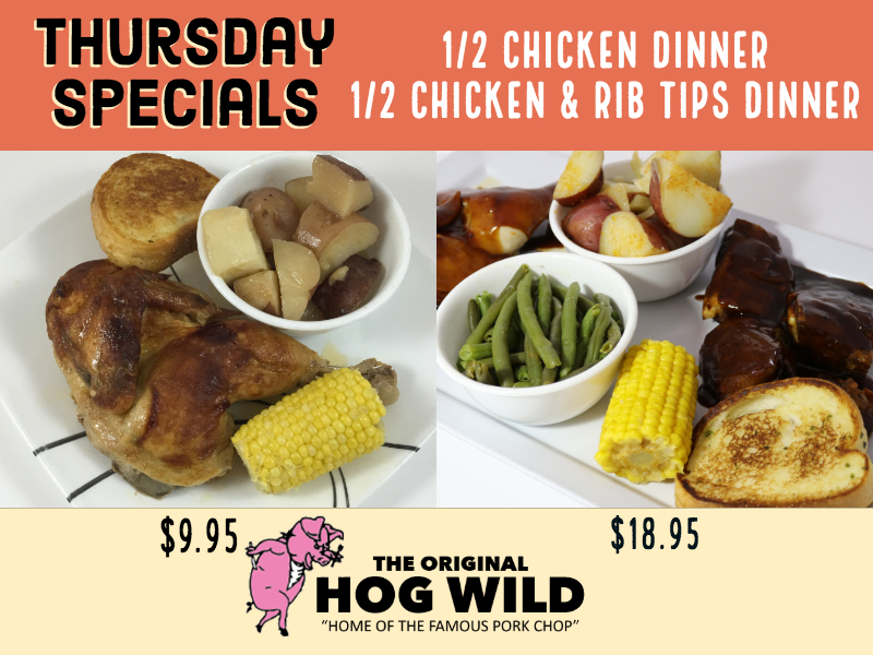 Thursday, November 8, 2018 Daily Specials