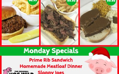 Monday, December 24, 2018 Daily Specials