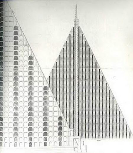 Thomas Wilson's Pyramid Mausoleum Design.
