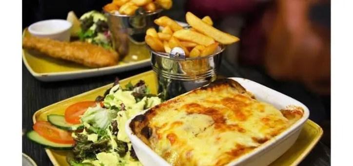 Irish Lasagne Beef Food Meal & Fries