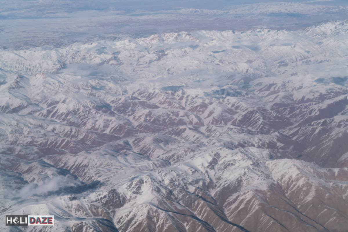 Aerial view of Bamyan province, Afghanistan, a completely safe part of the country and amazing winter destination for skiing