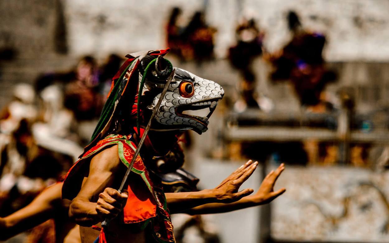 Traditional cultural dance in Bhutan