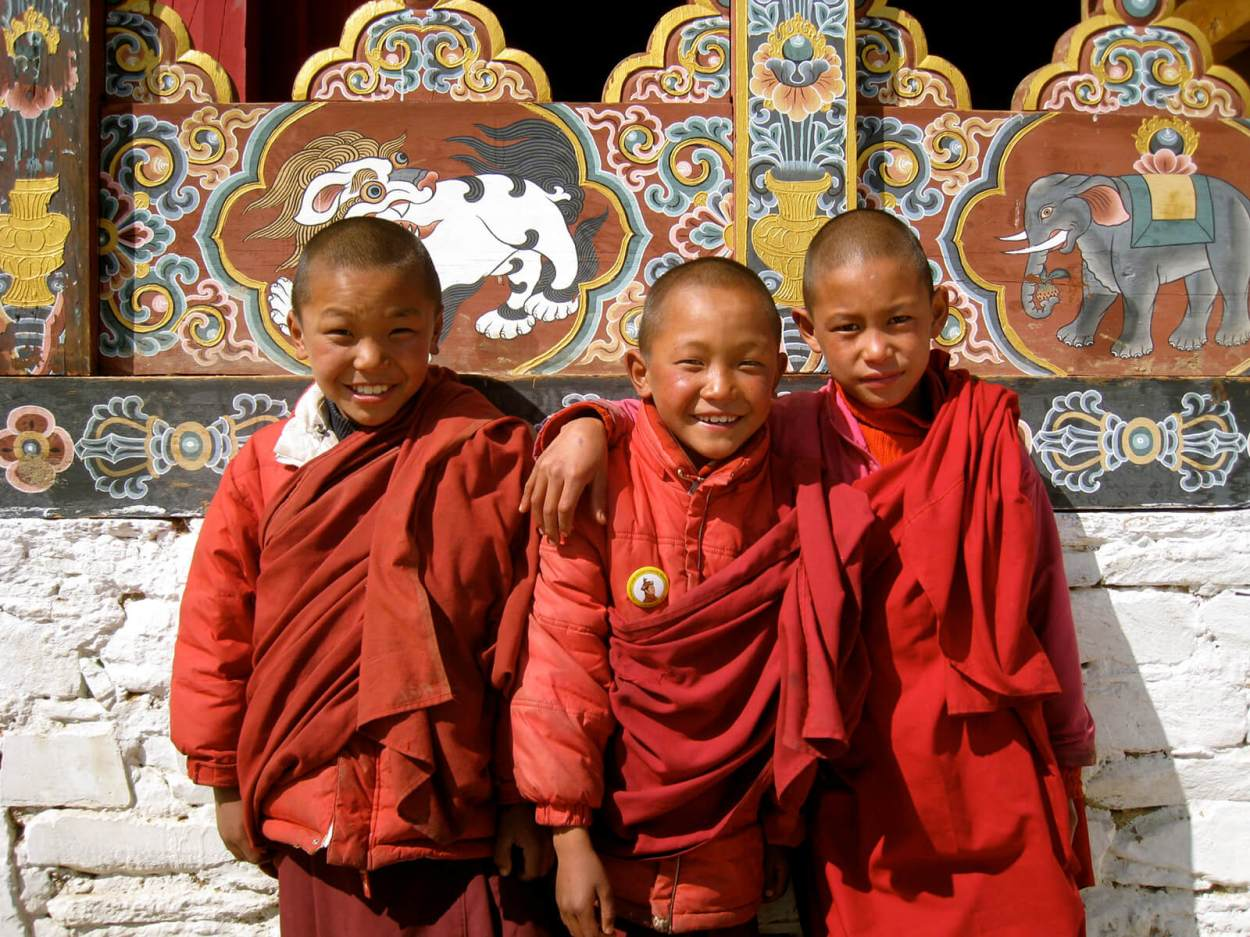 Buddhist kids in Bhutan