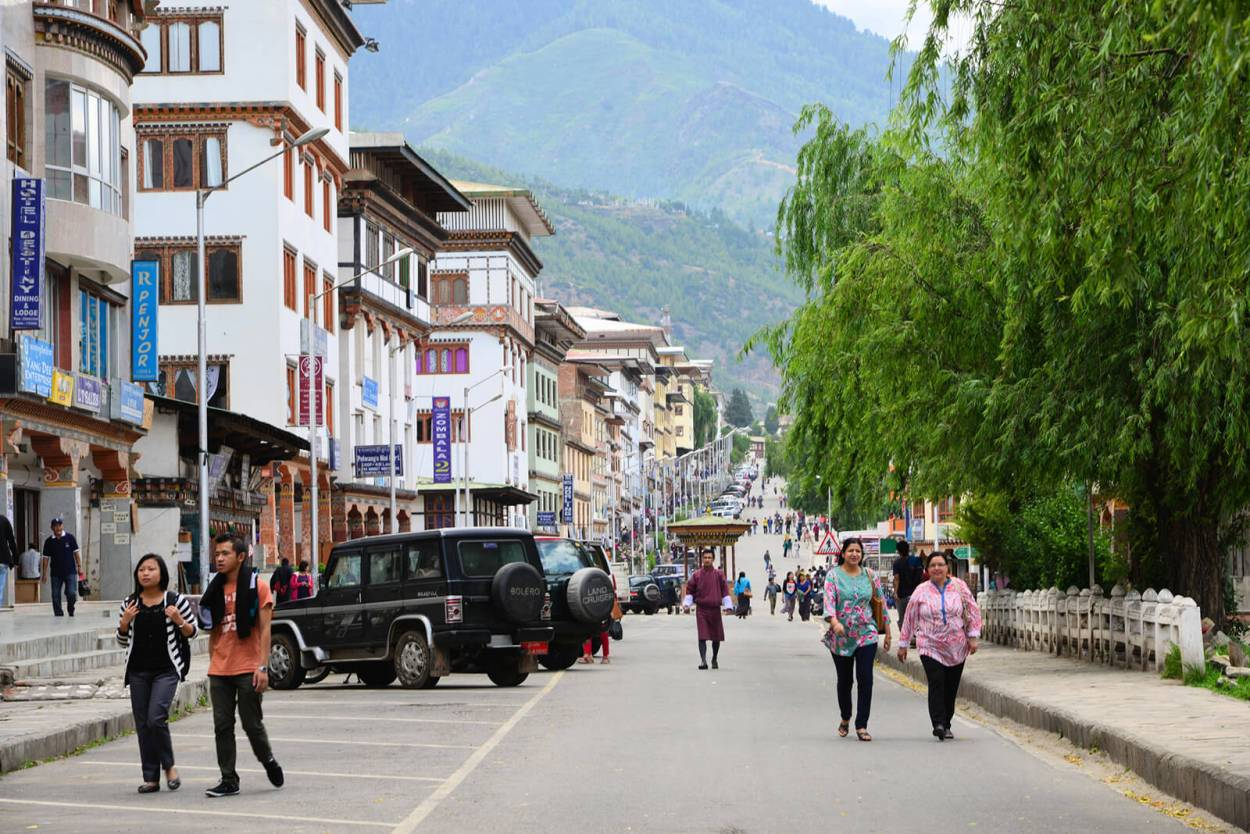 Walking around Thimphu, the 'the capital city with no traffic lights' -- welcome to Bhutan