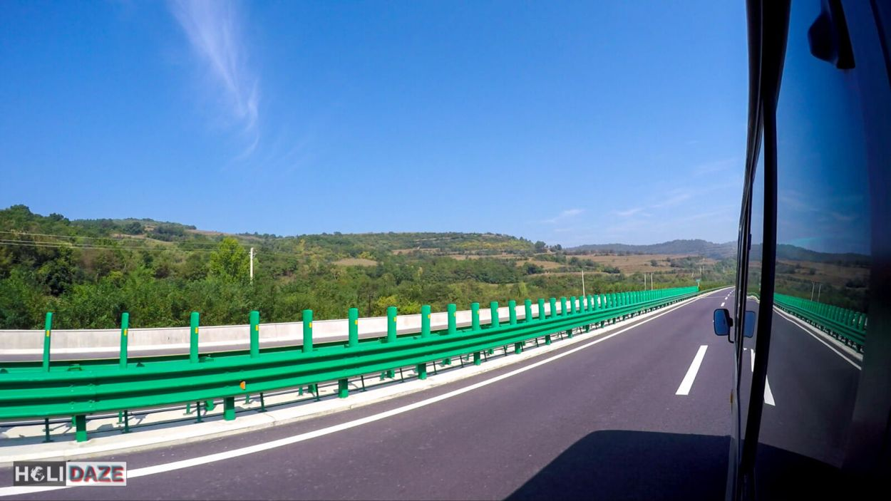 Enjoying some pristine blue skies while road-tripping around China