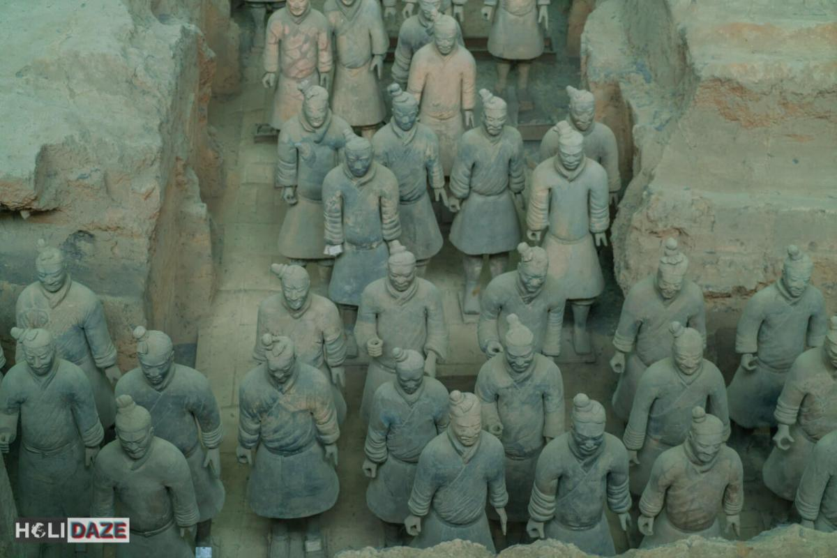 Terracotta warrior army of Qin Shi Huang, the first emperor of China