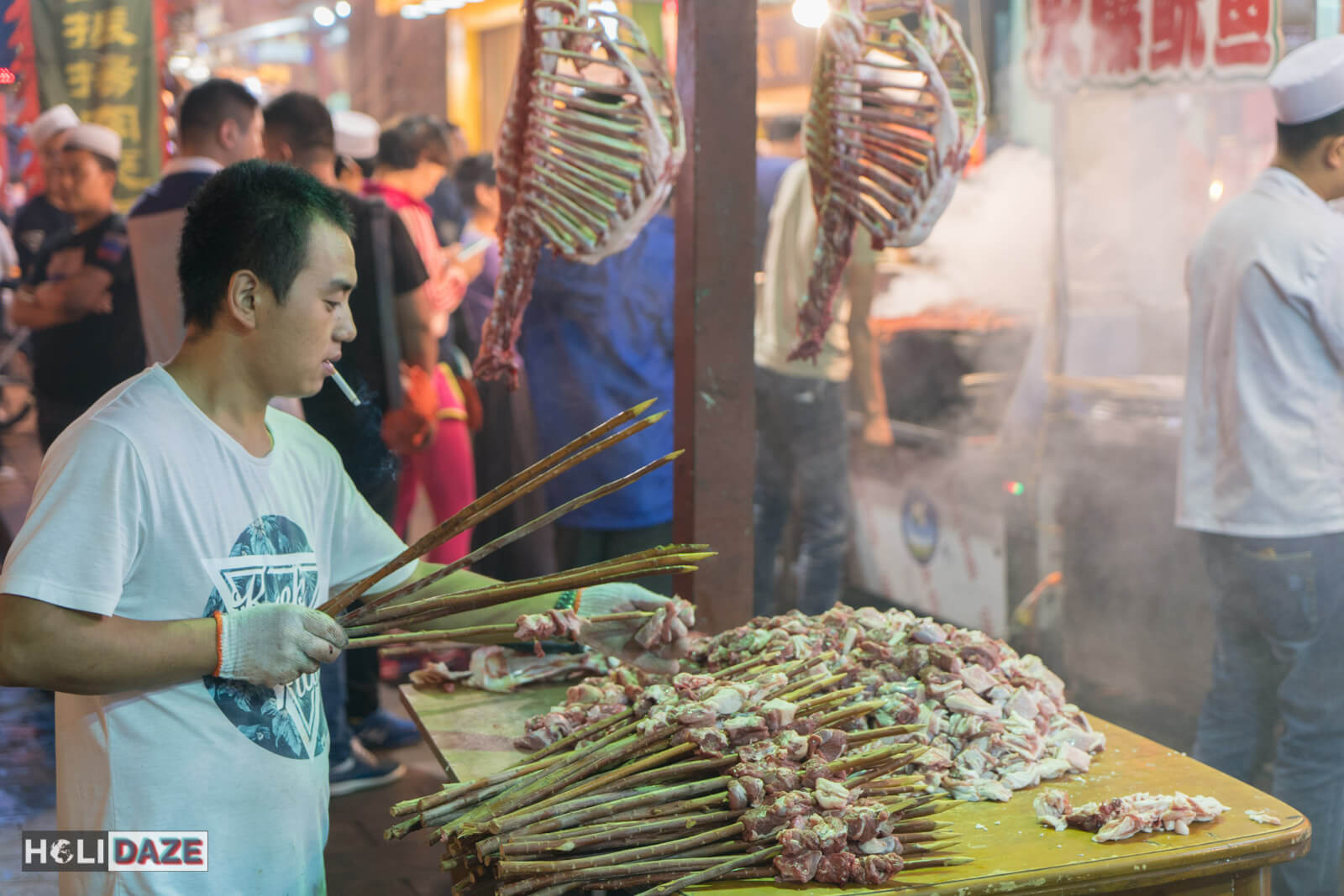 The Muslim Quarter in Xi'an is your go-to place for the best food in town -- and a free show watching the people prepare it