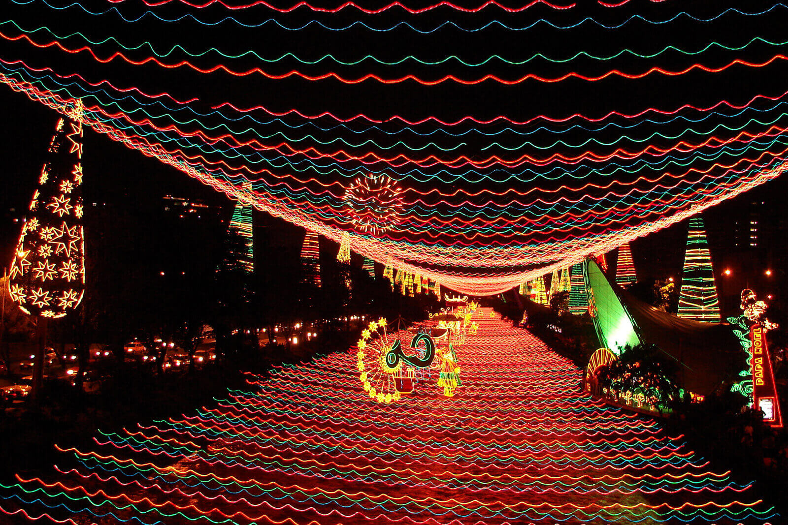 Christmas in Colombia is best celebrated in Medellin with the colorful lights of El Alumbrado