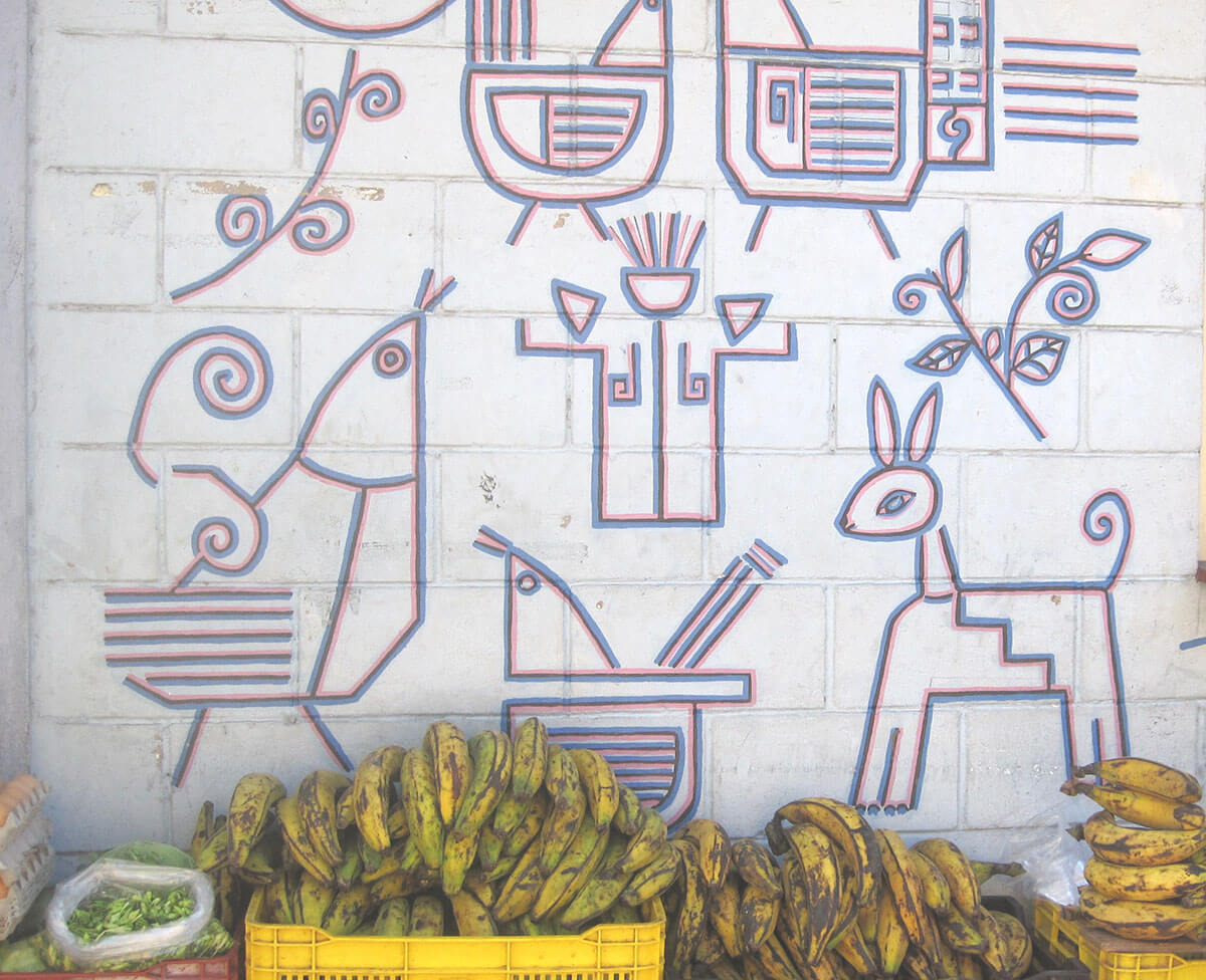Street art in Juayua, El Salvador