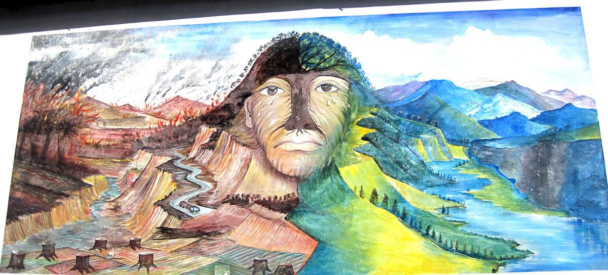 Street art in La Palma, El Salvador