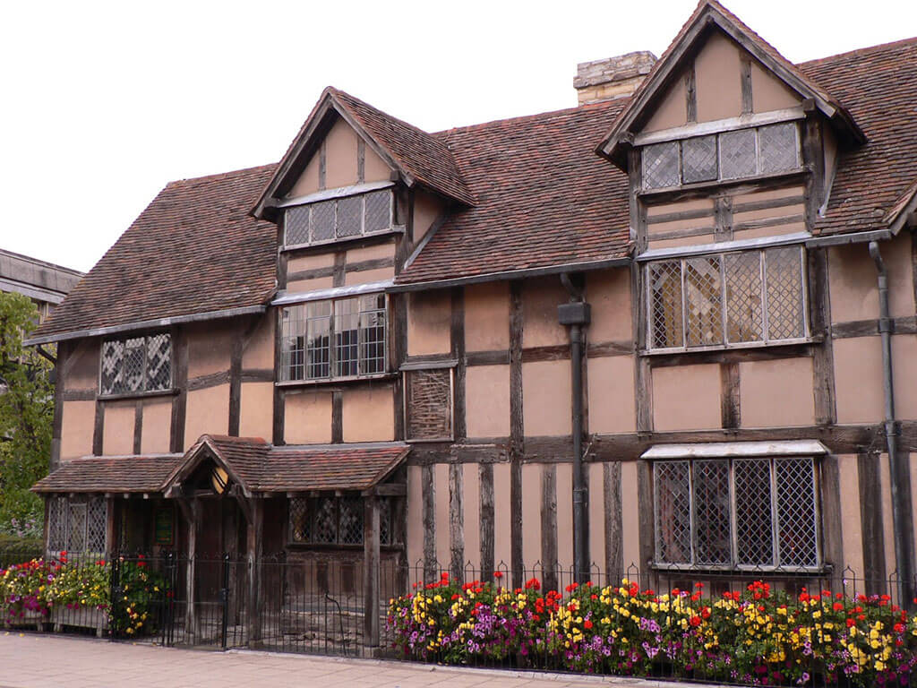 The birthplace of William Shakespeare turned Shakespeare Museum in Stratford-Upon-Avon, England