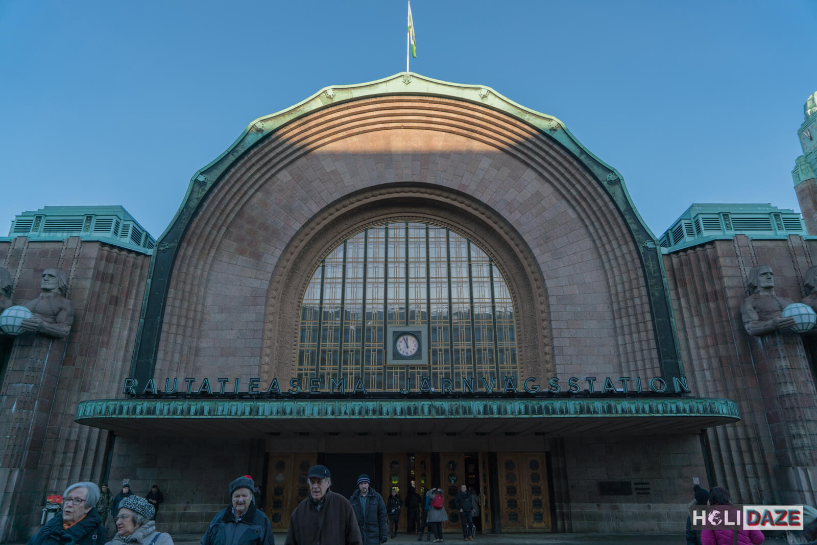 Helsinki Central Station, the first place visitors to Finland see