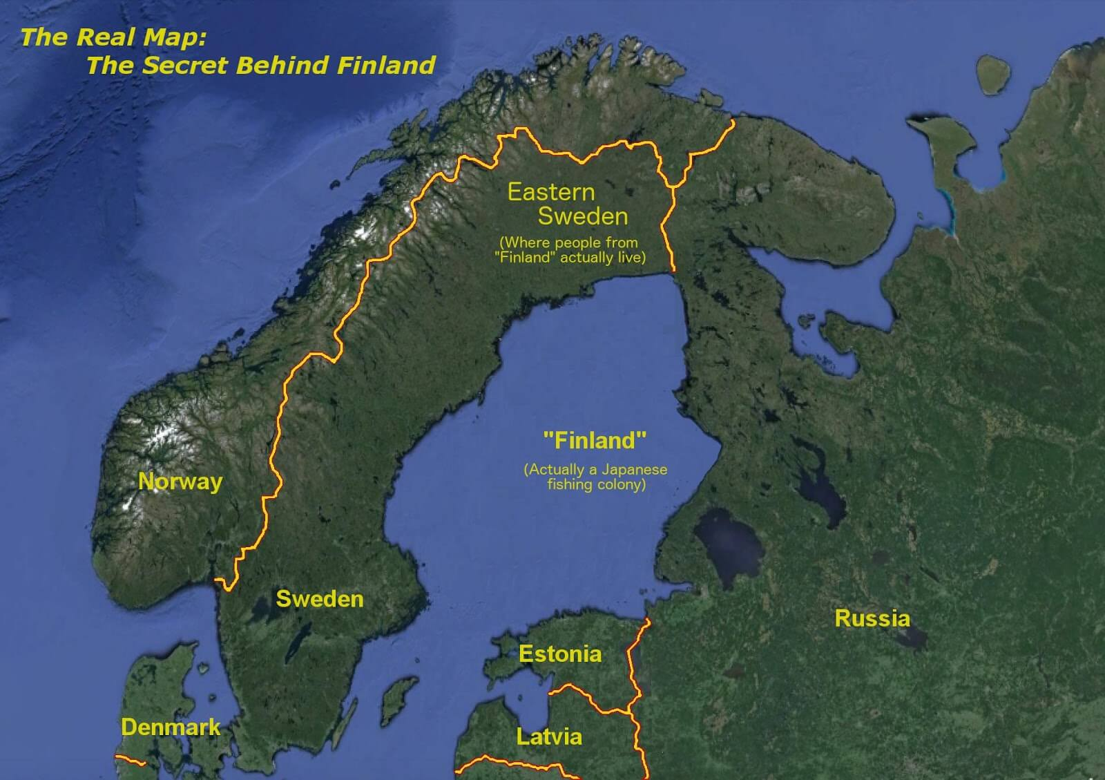 Finland does not exist -- here is a map of what the region really looks like. Crazy, huh? Just one of the many things you do not know about Finland.