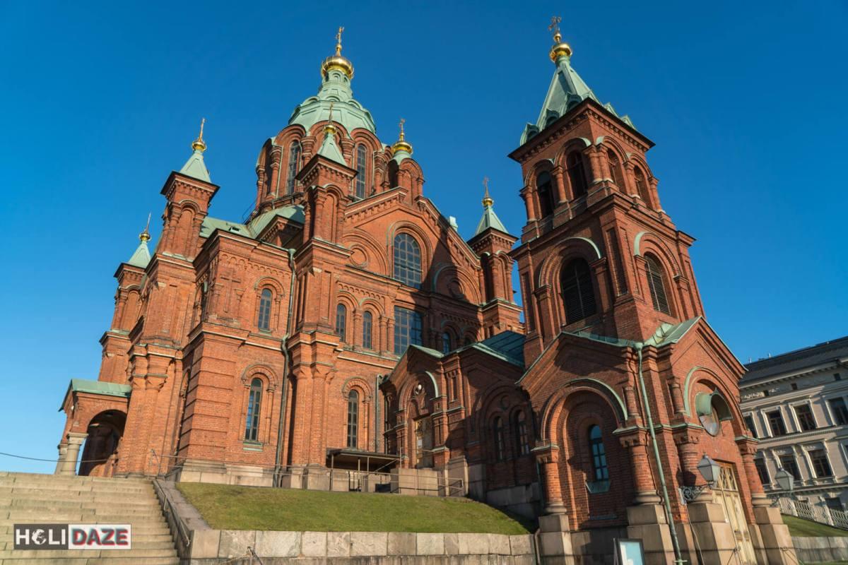 Uspenski Orthodox Cathedral in Helsinki, Finland