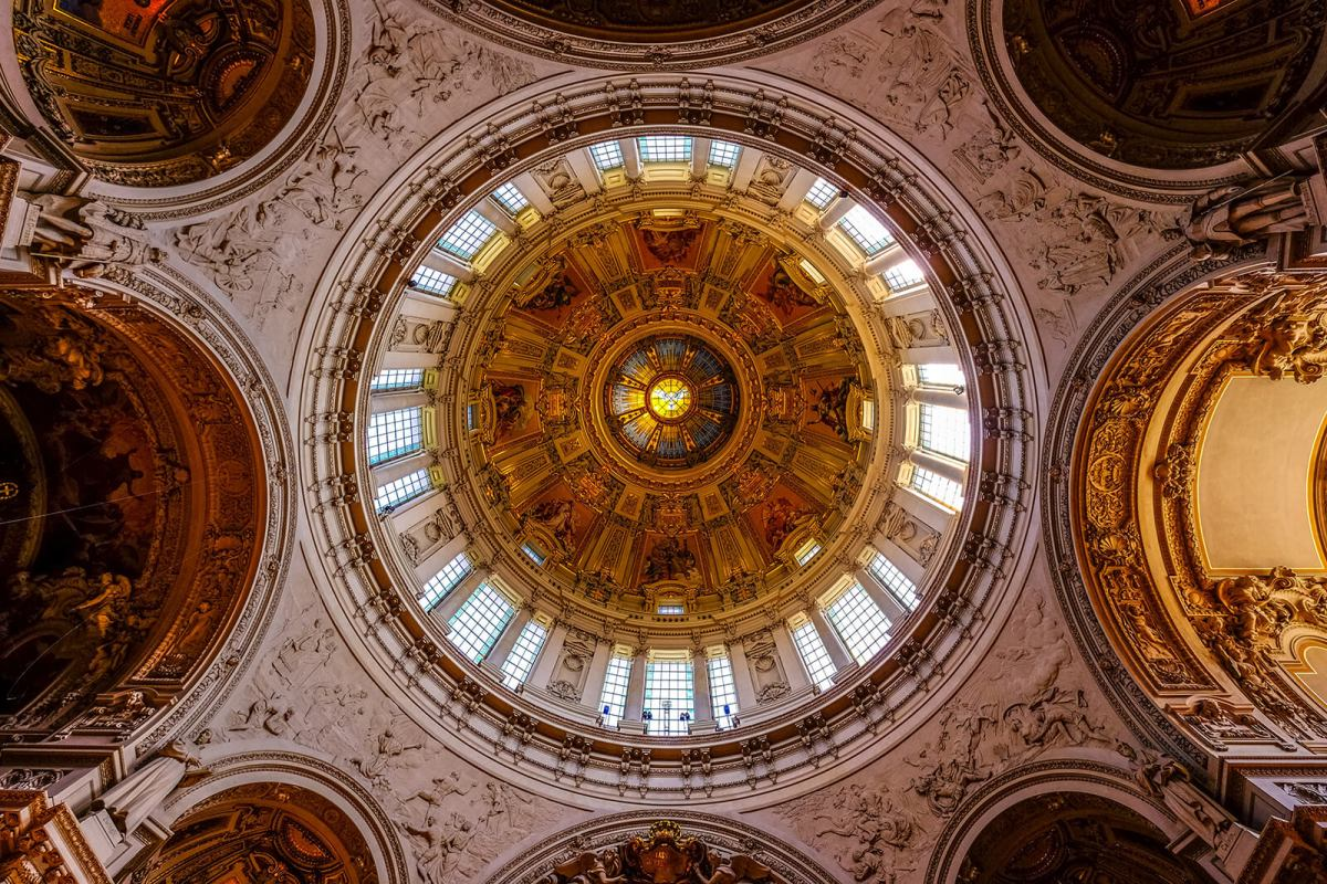 Breathtaking dome of the Berlin Cathedral in Germany