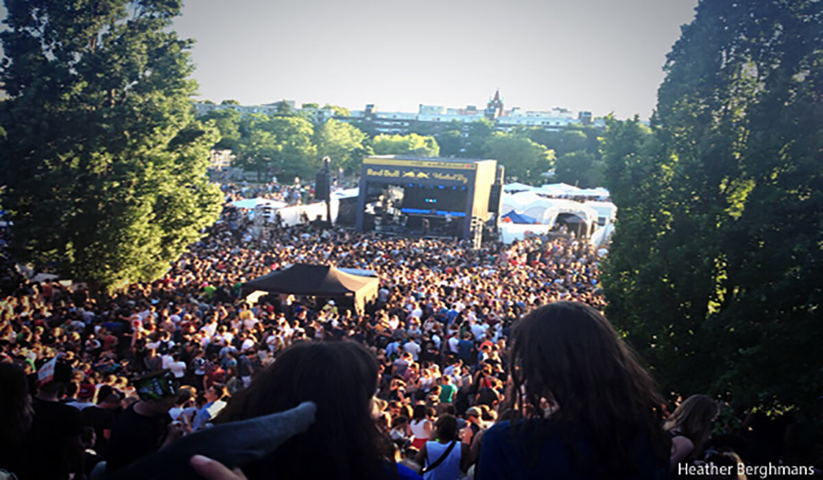 Free concerts in Mauer Park, Berlin