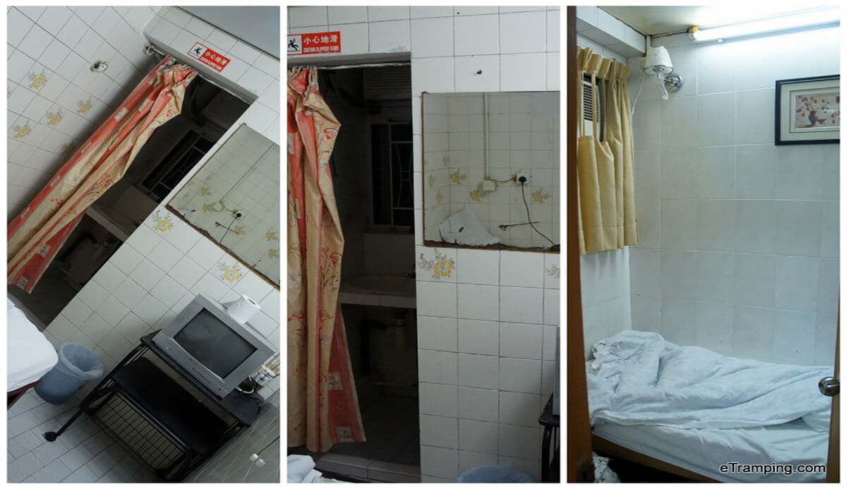 Searching for accommodation in Hong Kong for $15 USD or Less? Check out the rooms available in Chungking Mansions in Tsim Sha Tsui, Kowloon